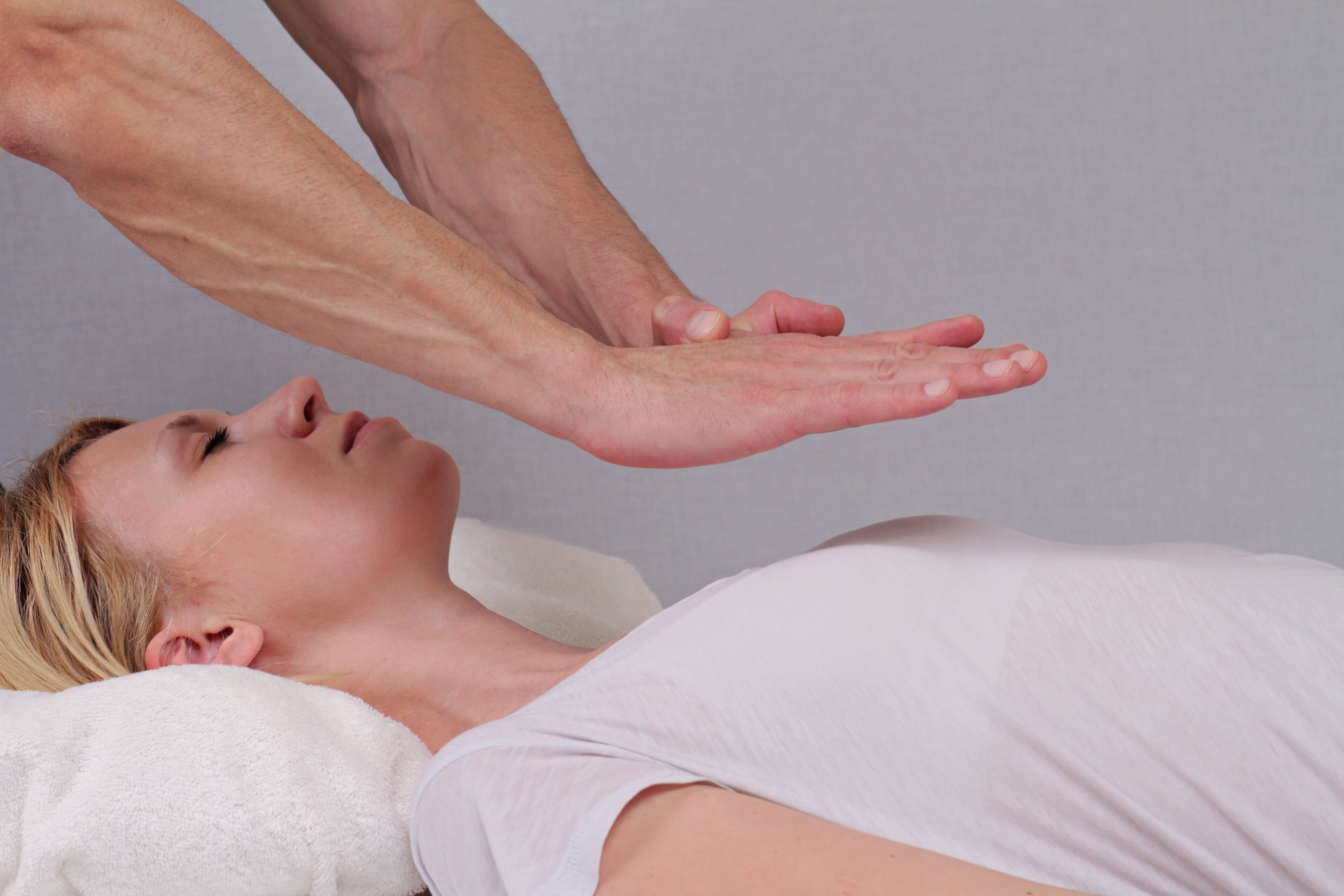 Woman Getting Reiki
