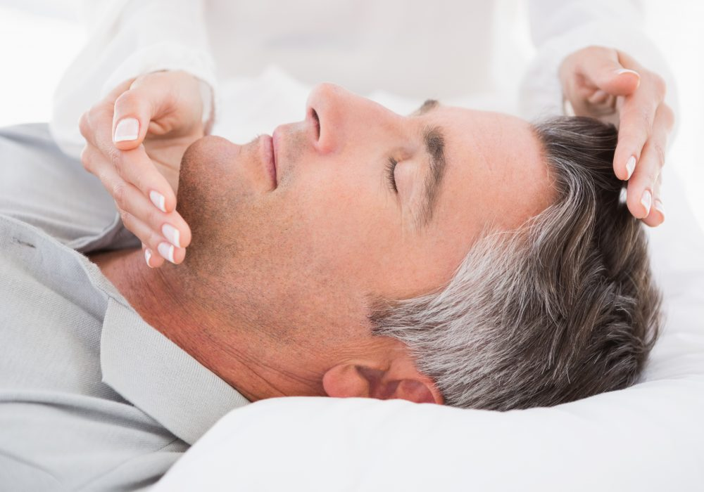 Man Getting Reiki